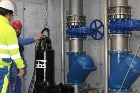 Entlasstungspumpwerk in Verteilcenter Coop